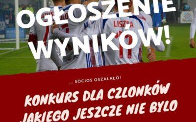 Wyniki konkursu dla członków Socios Górnik