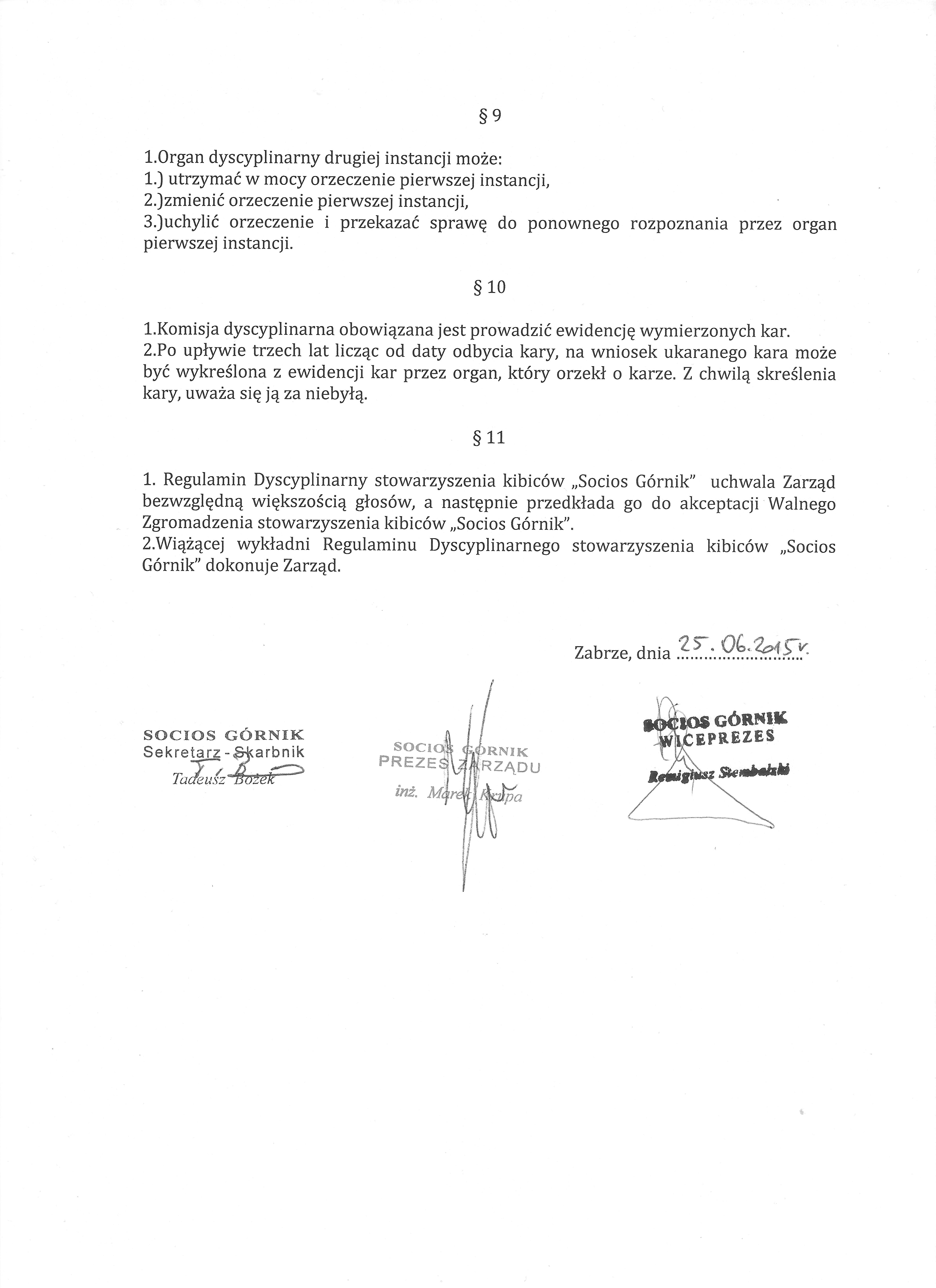 Regulamin Dyscyplinarny Socios 003